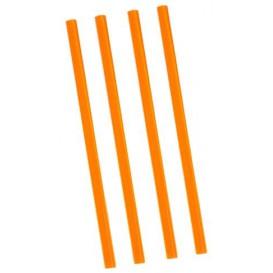 Cannuccia Dritta Arancione per Granita Ø8mm 22cm (5000 Pezzi)