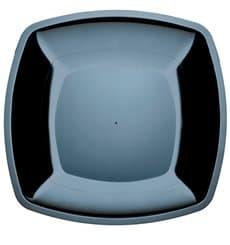 Piatto Plastica Piano Nero Square PS 300mm (12 Pezzi)
