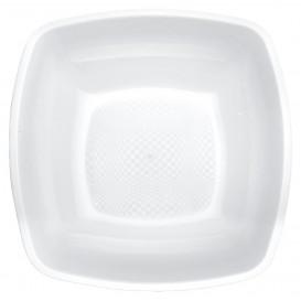 Piatto Plastica Fondo Bianco 180mm (25 Pezzi)