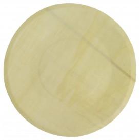 Piatto di Legno Tondo 215mm (25 Pezzi)