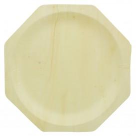 Piatto di Legno Ottagonale 260mm (50 Pezzi)
