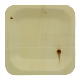 Piatto di Legno quadrato 11,5x11,5cm (25 Pezzi)