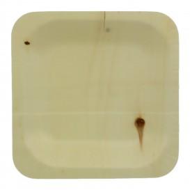Piatto di Legno quadrato 11,5x11,5cm (400 Pezzi)