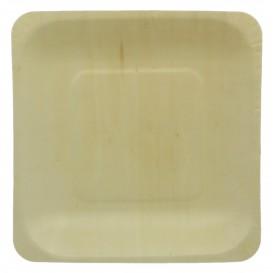 Piatto di Legno quadrado 14x14cm (300 Pezzi)