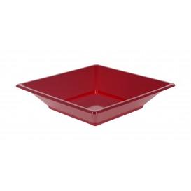 Piatto Plastica Fondo Quadrato Bordò 170mm (360 Pezzi)