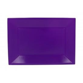 Vassoio Plastica Lilla 330x225mm (3 Pezzi)