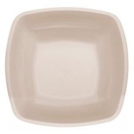 Piatto Plastica Fondo Beige Square PP 180mm (25 Pezzi)