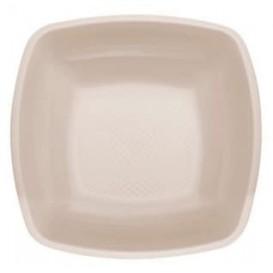 Piatto Plastica Fondo Beige Square PP 180mm (300 Pezzi)