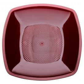 Piatto Plastica Fondo Marrone 180mm (25 Pezzi)
