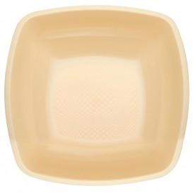 Piatto Plastica Fondo Crema PP 180mm (25 Pezzi)