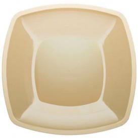 Piatto Plastica Piano Crema Square PS 300mm (144 Pezzi)