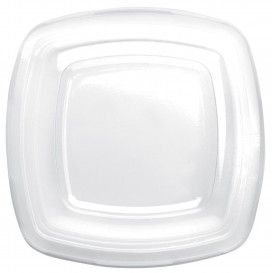 Coperchio Plastica Transp. per Piatto Square PET 180mm (150 Pezzi)