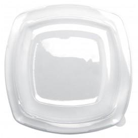 Coperchio Plastica Transp. per Piatto Square PET 230mm (25 Pezzi)