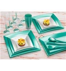 Piatto Plastica Fondo Argento Nice Pearl PP 180mm (25 Pezzi)