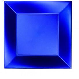 Piatto Plastica Piano Blu PP 290mm (12 Pezzi)