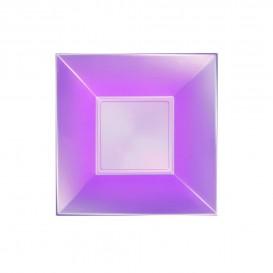 Piatto Plastica Fondo Viola Pearl Nice PP 180mm (25 Pezzi)