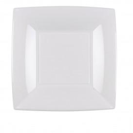 Piatto Plastica Piano Bianco Nice PP 180mm (25 Pezzi)