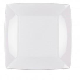 Piatto Plastica Piano Bianco Nice PP 230mm (150 Pezzi)