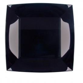 Piatto Plastica Piano Nero Nice PP 230mm (150 Pezzi)