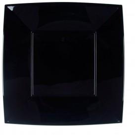 Piatto Plastica Piano Nero Nice PP 290mm (72 Pezzi)