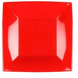 Piatto Plastica Piano Quadrato Argento 290mm (12 Pezzi)