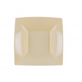 Piatto Plastica Fondo Crema Nice PP 180mm (25 Pezzi)