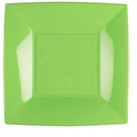 Piatto Plastica Piano Verde Acido Nice PP 290mm (144 Pezzi)