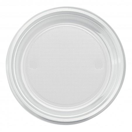 Piatto di Plastica Piano Transparente PS 170mm (50 Pezzi)