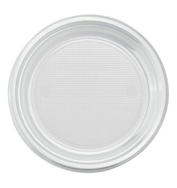 Piatto di Plastica PS Piano Transparente Ø170mm (1100 Pezzi)