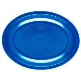 Piatti Plastica Ovali Blu Mediterraneo Round PP 305mm (25 Pezzi)