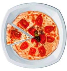 Piatto di Plastica PS Piano Bianco 230x230mm 1C (1000 Pezzi)