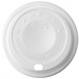 """Coperchio di plastica PS """"Cappuccino"""" Bianco Ø8,9cm (100 Pezzi)"""