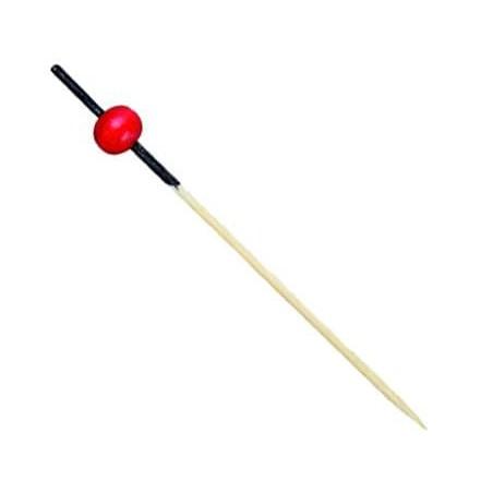 Spiedi di Bambu Rosso e Nero 120mm (200 Pezzi)