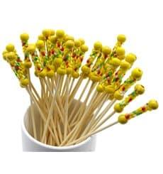 Spiedi di Bambu Giallo 120 mm (5000 Pezzi)