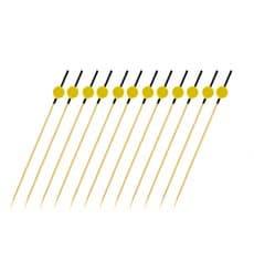 """Spiedi di Bambu Giallo e Nero """"Japan"""" 120mm (200 Pezzi)"""