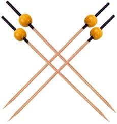 Spiedi di Bambu Nero e Giallo 120mm (200 Pezzi)