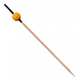 Spiedi di Bambu Nero e Giallo 120mm (5000 Pezzi)