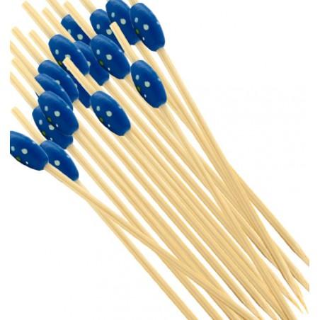 """Spiedi di Bambu """"Punteado"""" Blu 120mm (200 Pezzi)"""