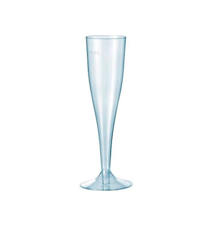 Calice Premium di Plastica a Champagne o Vino 115ml 1p (10 Pezzi)