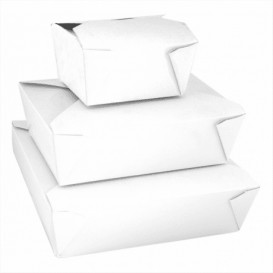 Contenitore di Cibo Bianco 11,3x9x6,4cm 780ml (50 Pezzi)