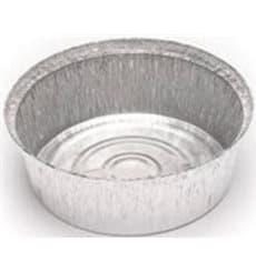 Contenitore in Alluminio 1400ml Circolari per Pollo (125 Pezzi)