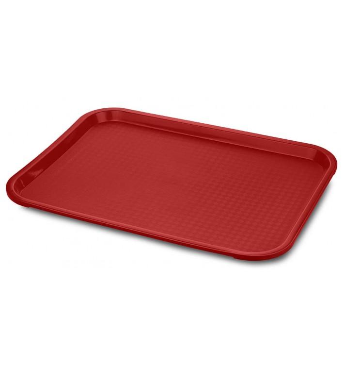Vassoio Plastica Rigida Rosso 27,5x35,5cm (1 Pezzi)