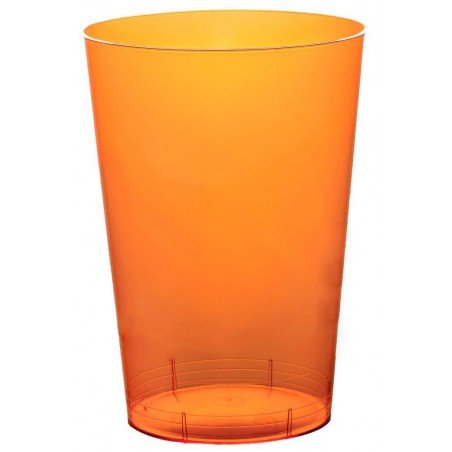 Bicchiere di Plastica Moon Arancione Trasp. PS 230ml (50 Pezzi)