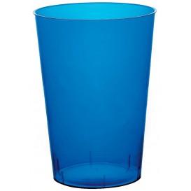 Bicchiere di Plastica Moon Blu Trasp. PS 230ml (50 Pezzi)