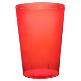 Bicchiere di Plastica Moon Rosso Trasp. PS 230ml (1000 Pezzi)