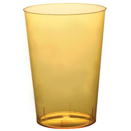 Bicchiere di Plastica Moon Giallo Trasp. PS 230ml (50 Pezzi)