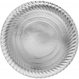 Piatto di Carta Tondo Argento 300 mm (200 Pezzi)
