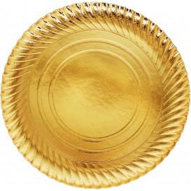 Piatto di Carta Oro Tondo 300 mm (100 Pezzi)