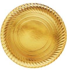 Piatto di Carta Oro Tondo 300mm (200 Pezzi)