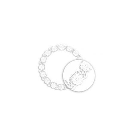 Centrino di Carta Traforato Bianco Ø100mm (250 Pezzi)